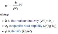 Thermal diffusivity